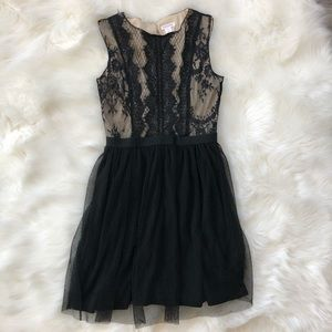 Xhilaration Black and Cream Lace Dress